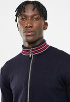 Superbalist - Zip-through funnel neck knit - navy