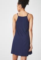 Cotton On - Sasha high neck swing dress - navy