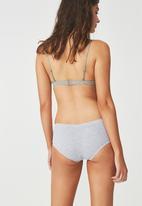 Cotton On - Soft seamless boy-leg brief- grey