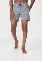 Cotton On - Swim bone shorts - black