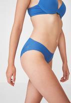 Cotton On - Party pants seamless bikini brief - blue