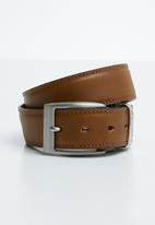 Pringle - Oriano square adjustable buckle belt - tan