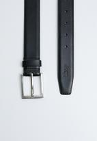JEEP - Basic formal leather belt - black