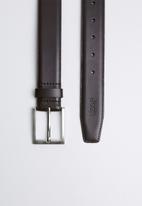 JEEP - Basic formal leather belt - brown