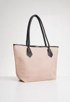 Joy Collectables - Textured shopper bag - pink