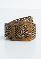 Joy Collectables - Paper straw belt - brown
