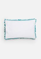 Sixth Floor - Tassel trim pillowcase set - teal