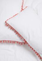 Sixth Floor - Tassel trim pillowcase set - coral