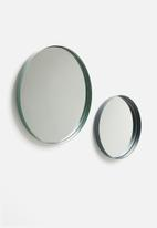 Sixth Floor - Lip mirror set of 2 - green & grey