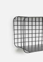 Sixth Floor - Amina wire shelf - black