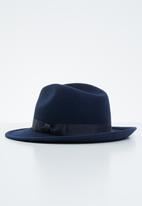 Superbalist - Felt fedora hat - navy
