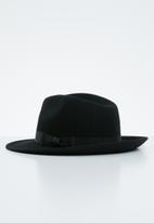 Superbalist - Felt fedora hat - black