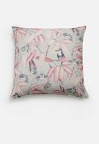 Hertex Fabrics - Aviary rose cushion cover - pink