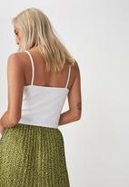 Cotton On - Tbar cami - white