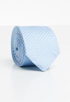 Joy Collectables - Check tie - pale blue