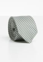 Joy Collectables - Check tie - grey