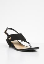 STYLE REPUBLIC - Slingback wedge sandals - black