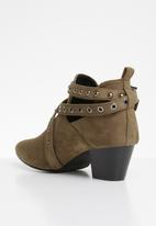 STYLE REPUBLIC - Studded bootie - taupe