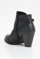STYLE REPUBLIC - Woven back detail ankle boots - black