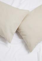 Sixth Floor - Polycotton pillowcase set - taupe