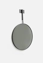 Sixth Floor - Metro round mirror - black