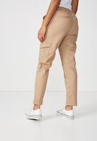 Cotton On - Rolled hem chino - brown