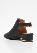 Jada - Slingback block heels - black