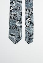 Joy Collectables - Paisley print tie - navy
