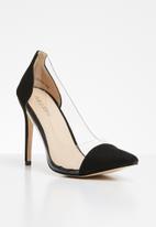 Public Desire - Potion perspex toe cap court heel - black