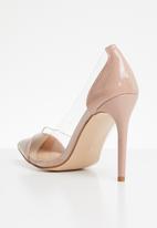 Public Desire - Potion perspex toe cap court heel - pink