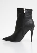 Public Desire - Revive point toe stiletto heel ankle boot - black