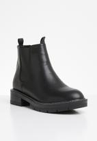Public Desire - Meadow flat chelsea boot - black