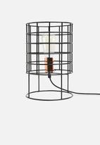 Sixth Floor - Grid lock table lamp - black