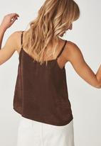 Cotton On - Ariel lace cami - brown
