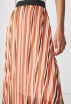 Cotton On - Woven pleated midi skirt - orange