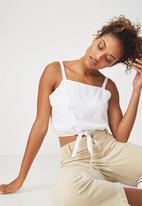 Cotton On - Reese tie-front cami - white