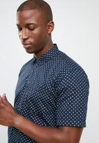 STYLE REPUBLIC - Night sky dotted shirt - navy & white