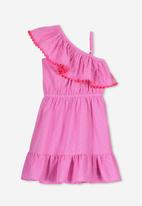 Cotton On - Edith frill dress - pink