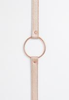 Superbalist - Ring detail leather belt - rose gold