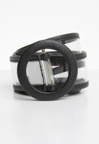 Superbalist - PVC belt - clear & black