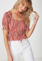 Cotton On - Polly blouse - red & white