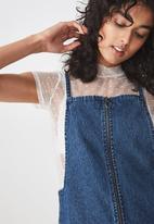 Cotton On - Faith denim pinafore - blue