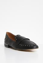 Miss Black - Unique loafer - black
