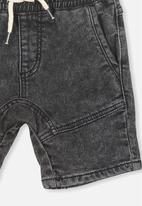 Cotton On - Abe denim short - black