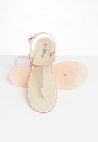 Miss Black - Peria T-bar sandals - pink