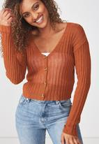 Cotton On - Maddy chopped cardi - rust