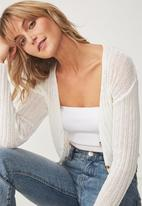 Cotton On - Maddy chopped cardi - white
