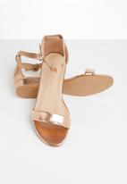 Superbalist - Lia barely there sandal - rose gold