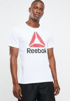 Reebok - Stacked tee - white