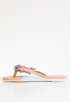 Miss Black - Flower sandals - pink